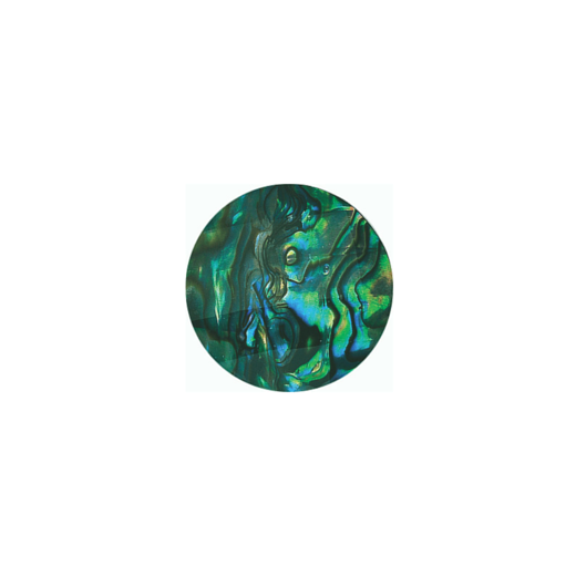 Virtue Keepsake 23mm Faceted Abalone Disc