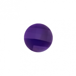 23mm Faceted Amethyst Disc