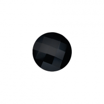 23mm Faceted Black Onyx Disc