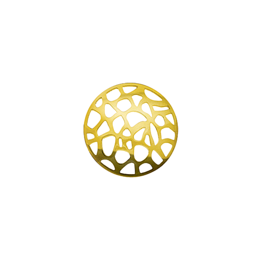 Virtue Keepsake 23mm Gold Abstract Cut Out Disc