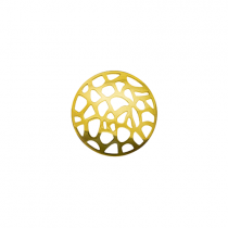 23mm Gold Abstract Cut Out Disc