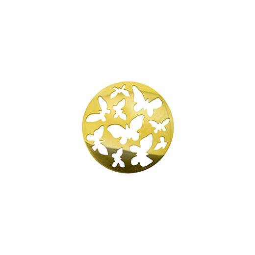 Virtue Keepsake 23mm Gold Butterfly Cut Out Disc