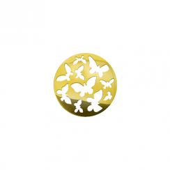 23mm Gold Butterfly Cut Out Disc