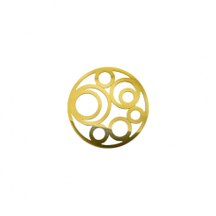 23mm Gold Circle Cut Out Disc