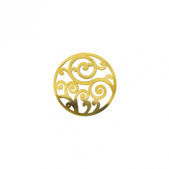 23mm Gold Filigree Cut Out Disc