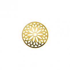 23mm Gold Layered Flower Cut Out Disc