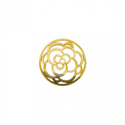 23mm Gold Rose Cut Out Disc