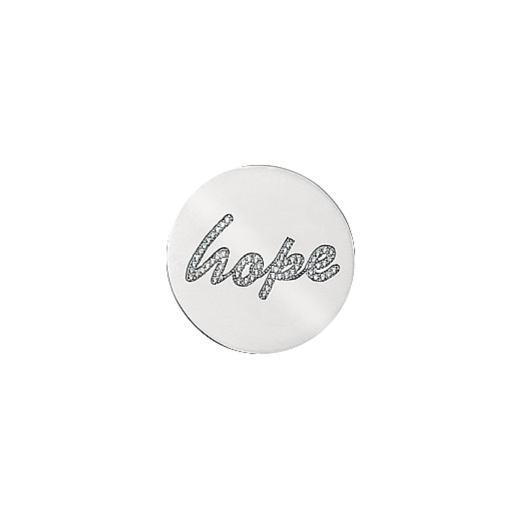 Virtue Keepsake 23mm Hope Cubic Zirconia Disc