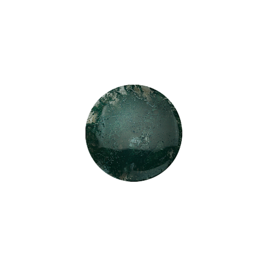 Virtue Keepsake 23mm Moss Agate Disc