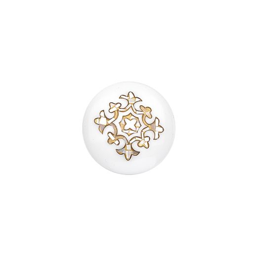 Virtue Keepsake 23mm Mother of Pearl Gold Inlay Disc