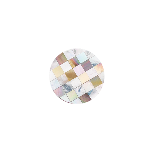 Virtue Keepsake 23mm Mother of Pearl Patchwork Disc