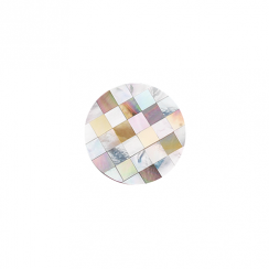 23mm Mother of Pearl Patchwork Disc