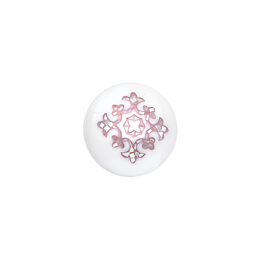 Virtue Keepsake 23mm  Mother of Pearl Pink Inlay Disc