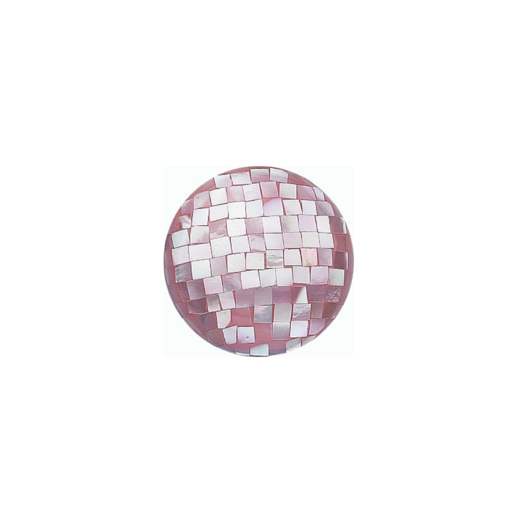 Virtue Keepsake 23mm Pink Mother of Pearl Mosaic Disc