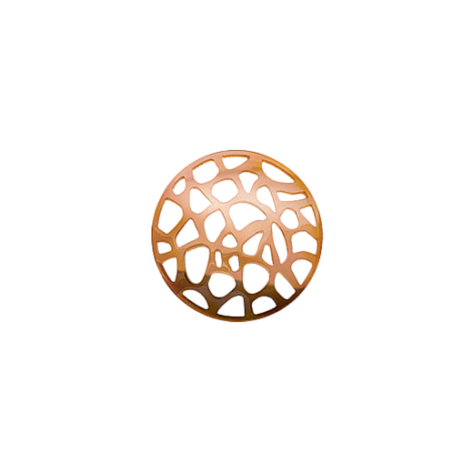 Virtue Keepsake 23mm Rose Gold Abstract Cut Out Disc