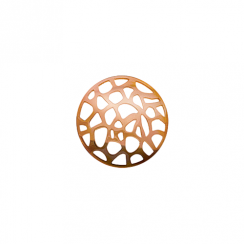 23mm Rose Gold Abstract Cut Out Disc