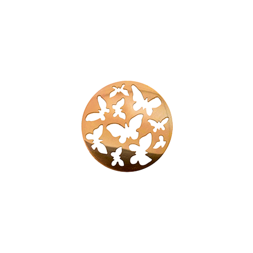 Virtue Keepsake 23mm Rose Gold Butterfly Cut Out Disc