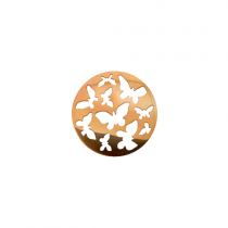 23mm Rose Gold Butterfly Cut Out Disc