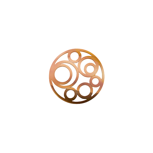 Virtue Keepsake 23mm Rose Gold Circle Cut Out Disc