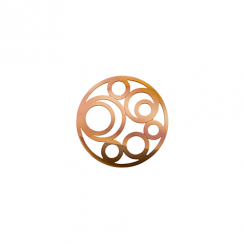 23mm Rose Gold Circle Cut Out Disc