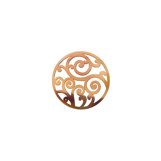 Virtue Keepsake 23mm Rose Gold Filigree Cut Out Disc