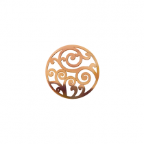 23mm Rose Gold Filigree Cut Out Disc