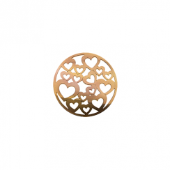 23mm Rose Gold Hearts Cut Out Disc