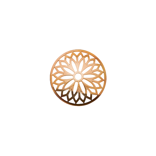 Virtue Keepsake 23mm Rose Gold Layered Flower Cut Out Disc