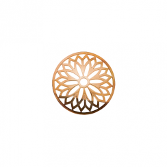 23mm Rose Gold Layered Flower Cut Out Disc
