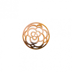 23mm Rose Gold Rose Cut Out Disc