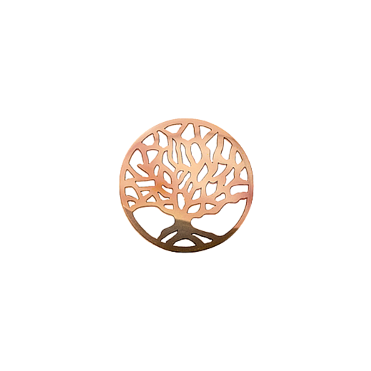 Virtue Keepsake 23mm Rose Gold Tree of Life Disc
