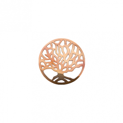 23mm Rose Gold Tree of Life Disc