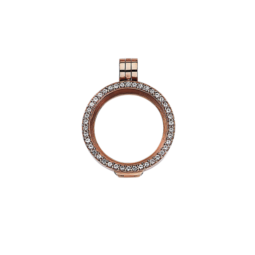 Virtue Keepsake 23mm Rose Gold with Cubic Zirconia Locket