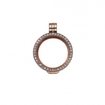 23mm Rose Gold with Cubic Zirconia Locket