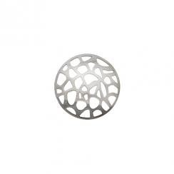 23mm Silver Abstract Cut Out Disc