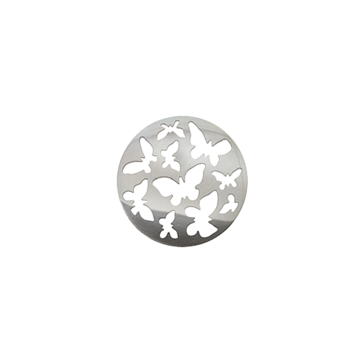 Virtue Keepsake 23mm Silver Butterfly Cut Out Disc
