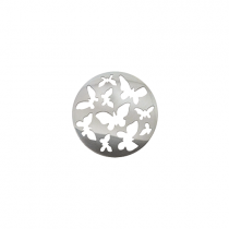 23mm Silver Butterfly Cut Out Disc
