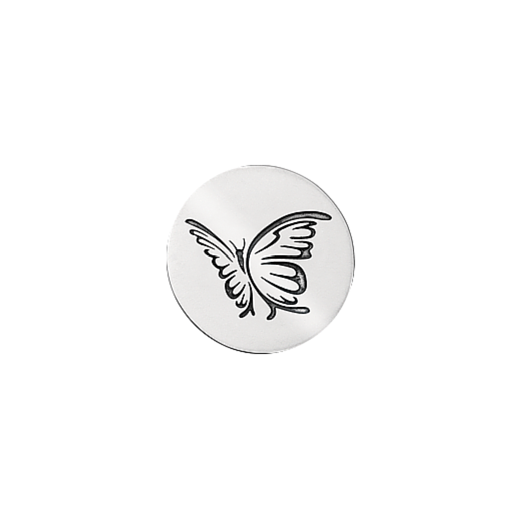 Virtue Keepsake 23mm Silver Butterfly Oxidised Disc