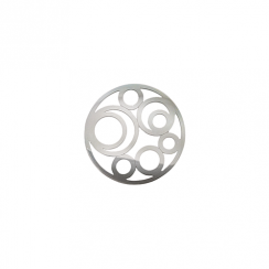 23mm Silver Circle Cut Out Disc