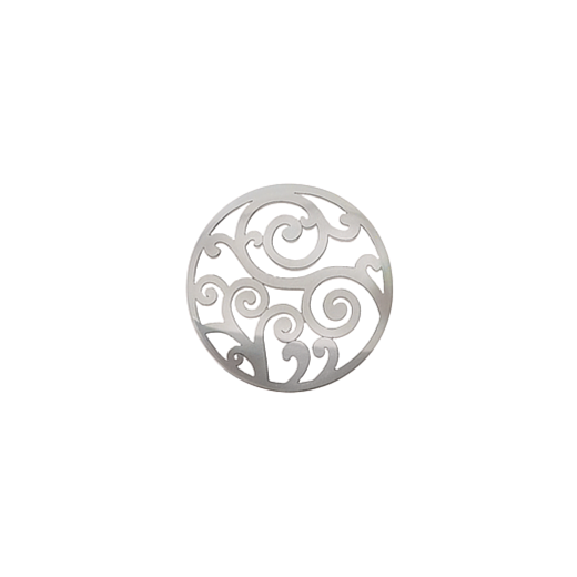 Virtue Keepsake 23mm Silver Filigree Cut Out Disc