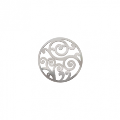 23mm Silver Filigree Cut Out Disc