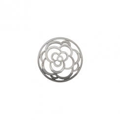 23mm Silver Rose Cut Out Disc