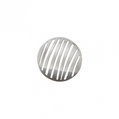 23mm Silver Stripe Cut Out Disc