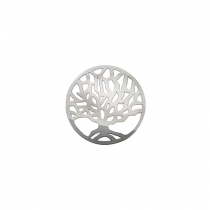 23mm Silver Tree of Life Disc