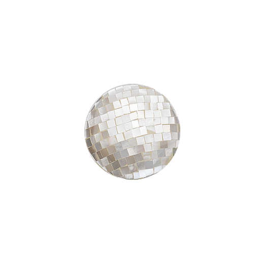 Virtue Keepsake 23mm White Mother of Pearl Mosaic Disc