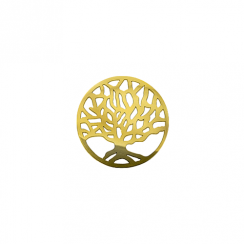 23mm Yellow Gold Tree of Life Disc
