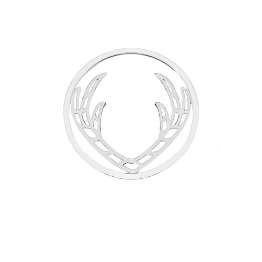 Virtue Keepsake 32mm Antler Sterling Silver Cut Out Disc