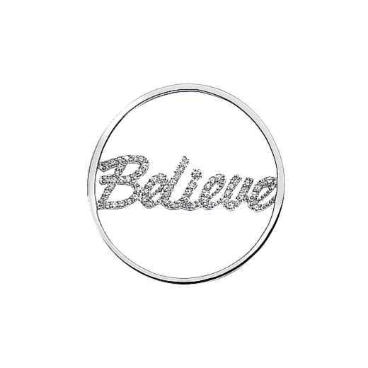 Virtue Keepsake 32mm Believe Cubic Zirconia Cut Out Disc
