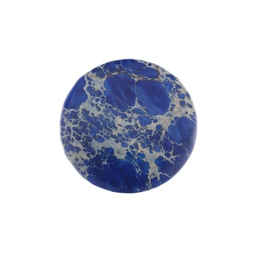 Virtue Keepsake 32mm Blue Jasper Stone Semi-Precious Disc