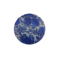32mm Blue Jasper Stone Semi-Precious Disc